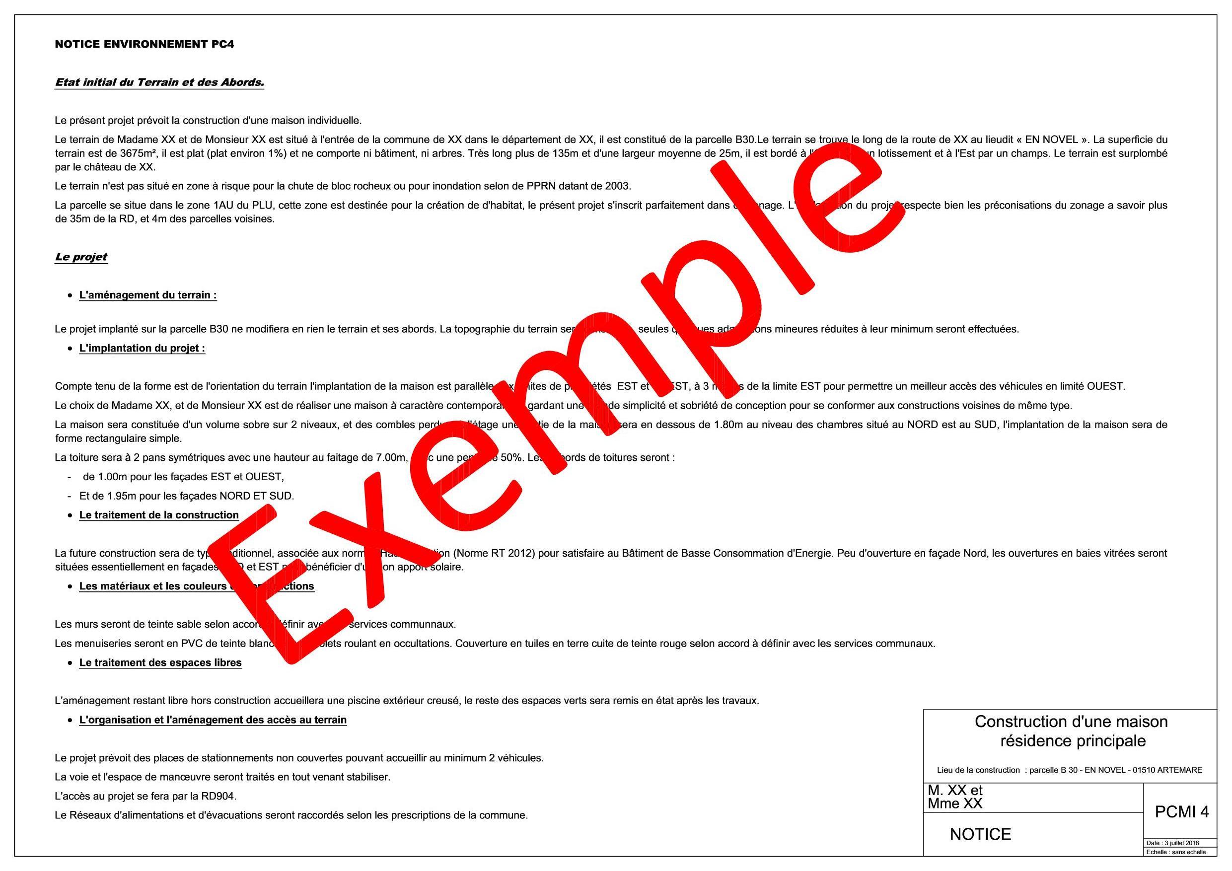 6 Une notice (pcmi4 obligatoire)